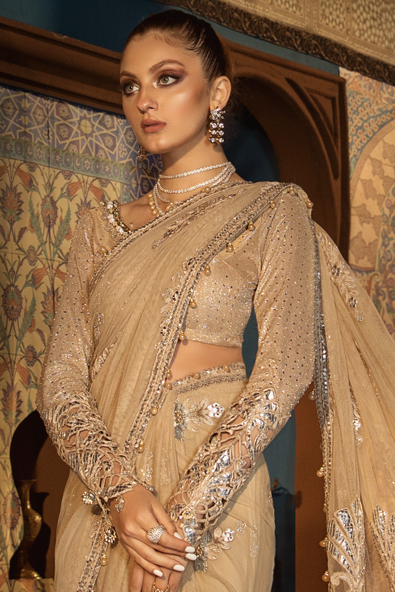 Maria B MBROIDERED BD-1808 Unstitched Chiffon 3 Piece Suit