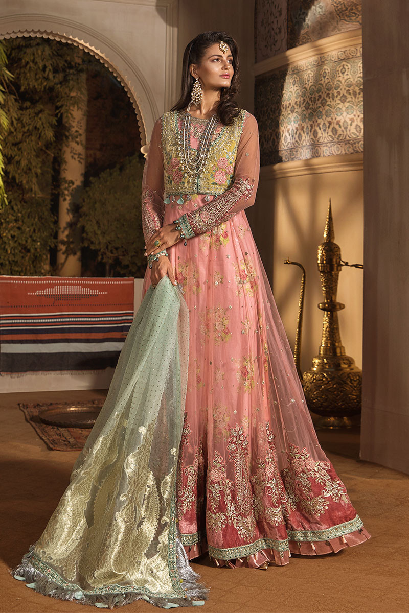 Maria B MBROIDERED BD-1802 Chiffon Unstitched 3 Piece Suit