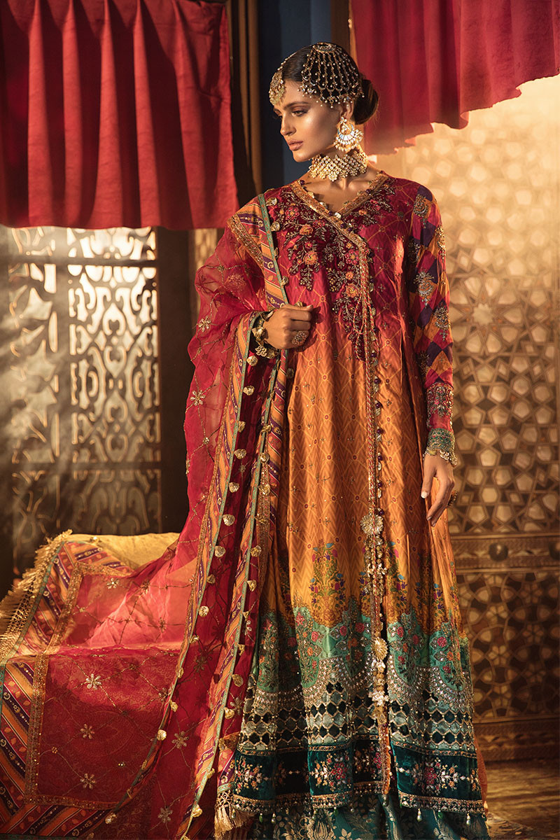 Maria B MBROIDERED BD-1804 Chiffon Unstitched 3 Piece Suit