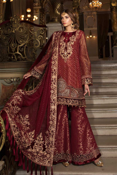 8ec18f44b2 Unstitched MBROIDERED - Deep Ruby (BD-1503) ...
