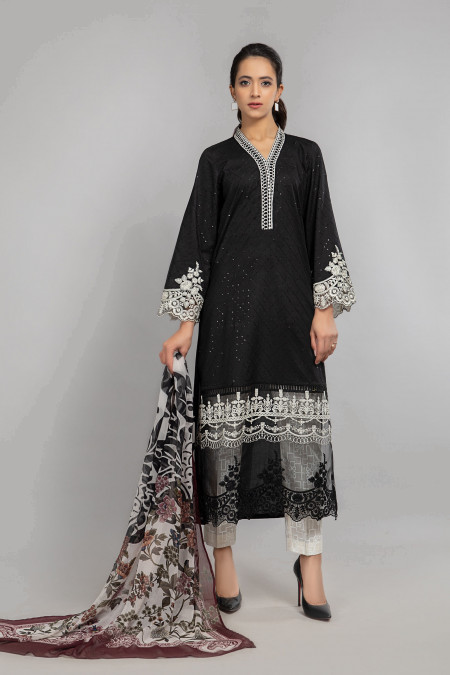 Maria B Suit Black DW-SS21-02 Eid Casual