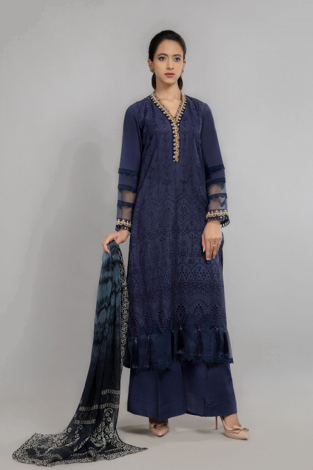 Maria B Suit Blue DW-SS21-14 Eid Casual