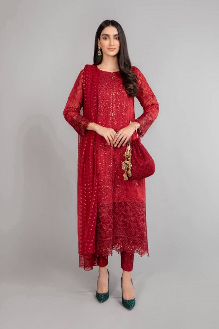 Maria B Suit Red DW-EA20-01 Eid Casual