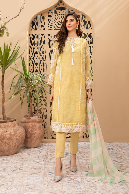 Maria B Suit Yellow DW-EA20-17 Eid Casual