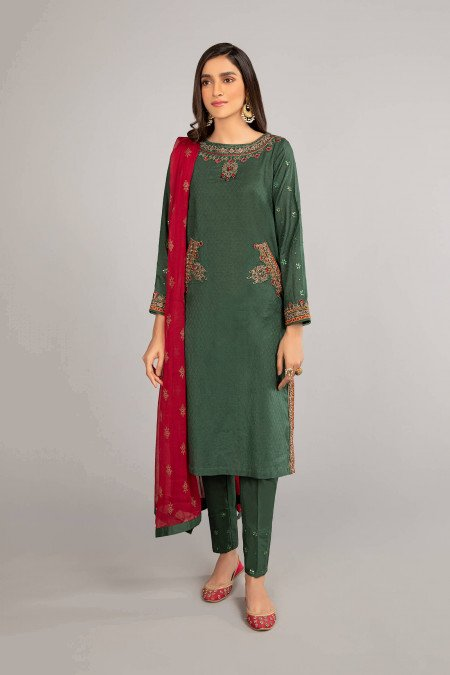 Maria B Suit Green DW-EF21-28 Eid Casual