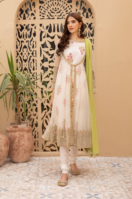 Maria B Suit Off White DW-EF21-43 Eid Casual