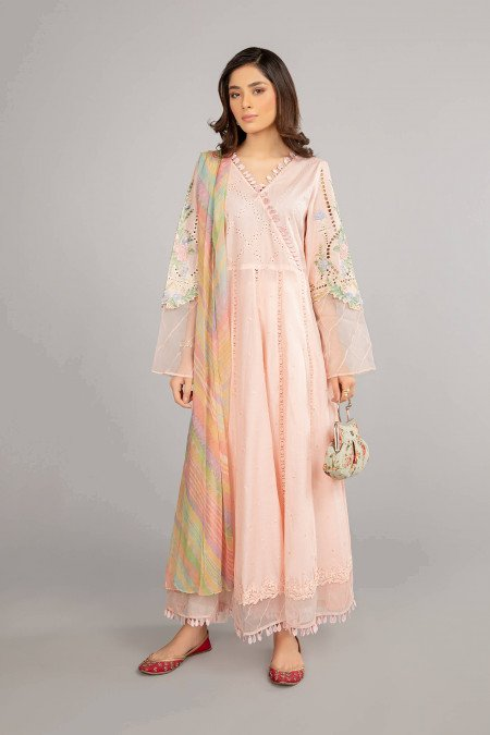 Maria B Suit Baby Pink DW-SS21-09 Eid Casual