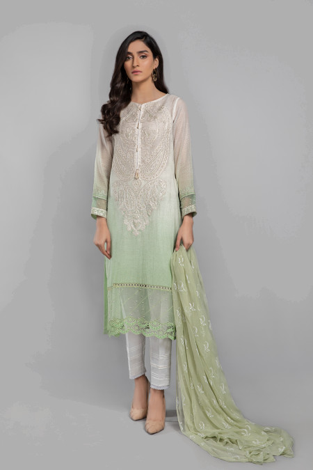 Maria B Suit Green DW-SS21-11 Eid Casual