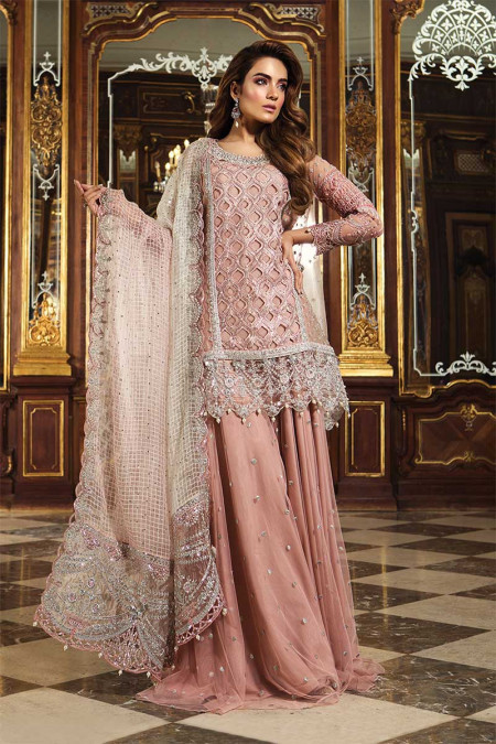 Unstitched MBROIDERED - Glittery Pink (BD-1506)