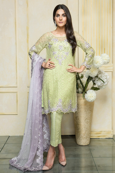 Suit Apple Green & Lilac BDS-1105