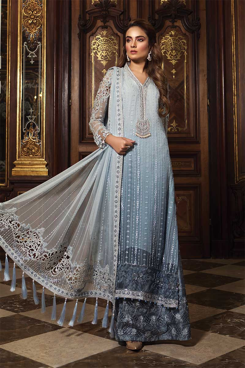 Unstitched MBROIDERED - Powder Blue (BD-1507)
