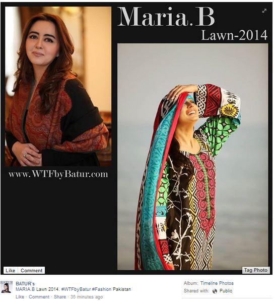 MARIA.B. - WTF By Batur - Facebook page - 13th March 2014