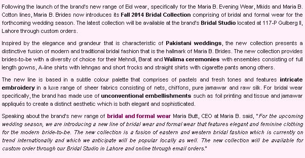 MARIA.B. - Fashioncentral.pk - 11th August 2014 (2)