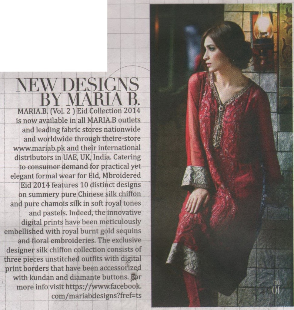 Maria B - The Nation S+ - 28 September -4 October 2014