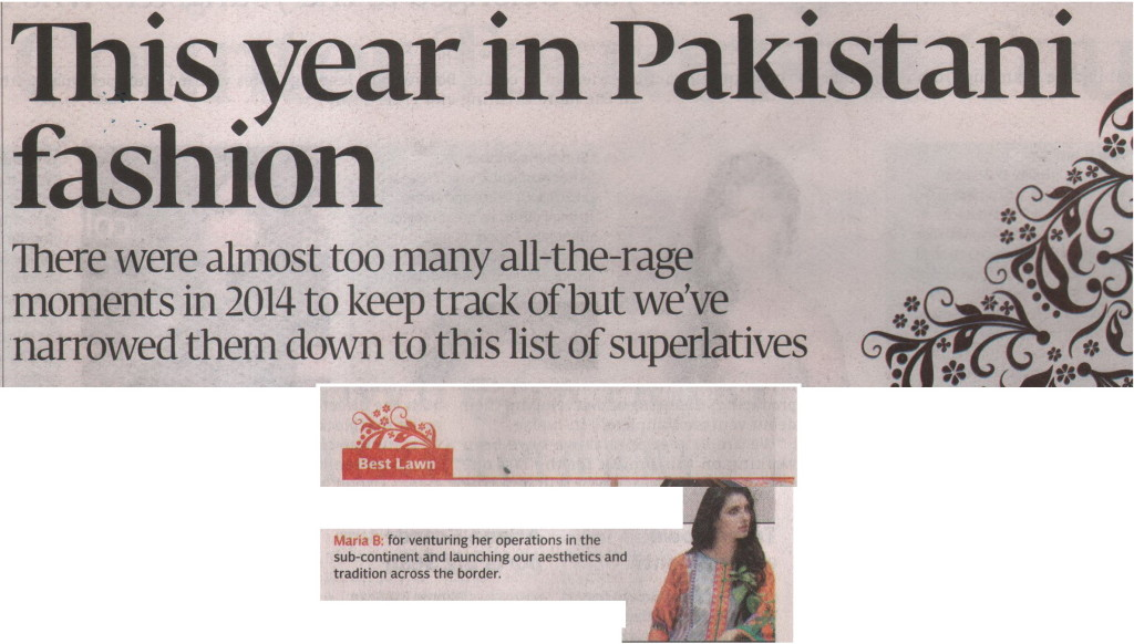 Maria B -The Express Tribune - 29 December 2014