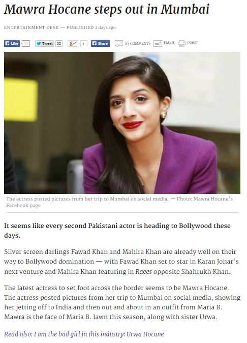 MARIA.B. - Dawn.com - 28th March 2015
