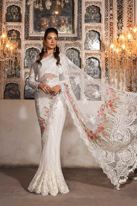 Unstitched MBROIDERED - Pearl White (BD-1703)