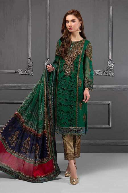 Suit Emerald Green & Teal BDS-1501