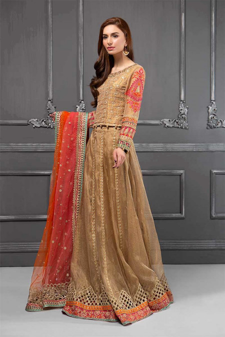 Suit Gold & Coral BDS-1505