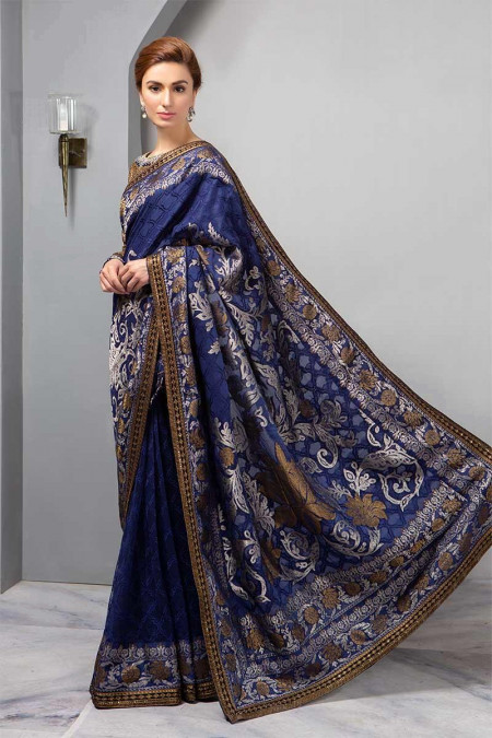 Suit Deep Sapphire and Burnt Gold BDS-1601