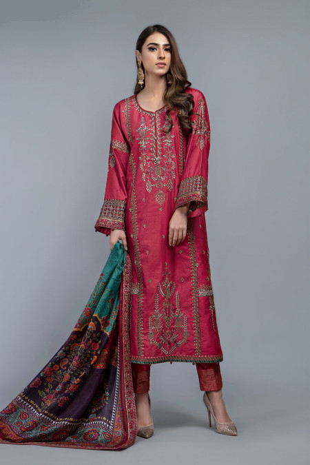 Suit Hot Coral Pink CSS-202