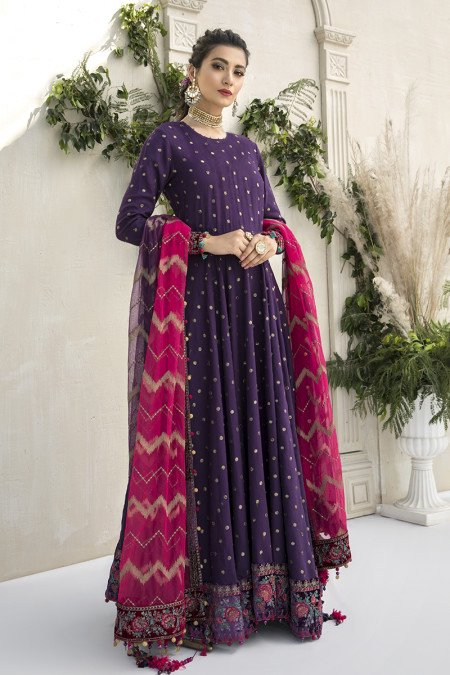 Unstitched Sateen CST-306-Purple