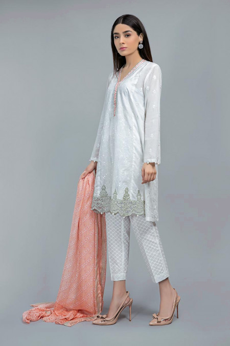 Suit White and Peach DW-SS20-23