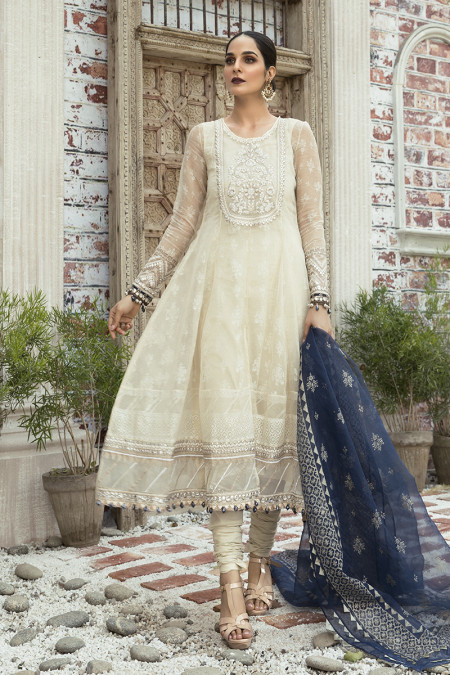 Unstitched Lawn | EL-20-06-Pearl White