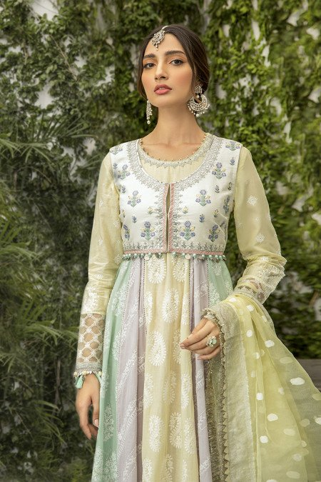 Unstitched Lawn | EL-20-05-Lemon, Lilac and Mint
