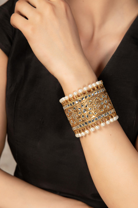 JBN-002-Gold and White