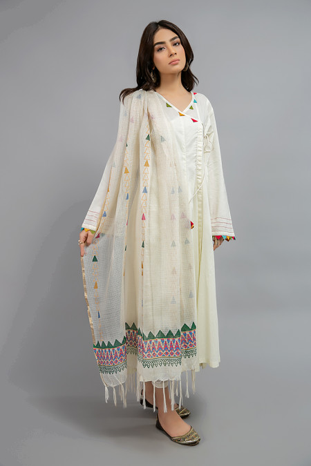 Dupatta MG-W20-13-Off White
