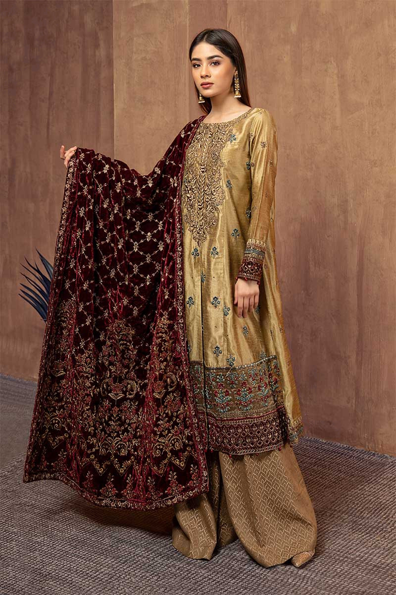 Suit Gold And Maroon SF-W19-12