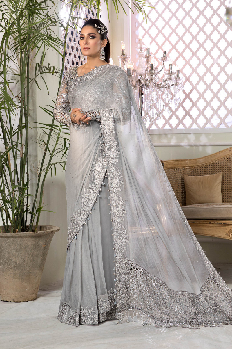 Unstitched MBROIDERED - Silver Grey (BD-2201)