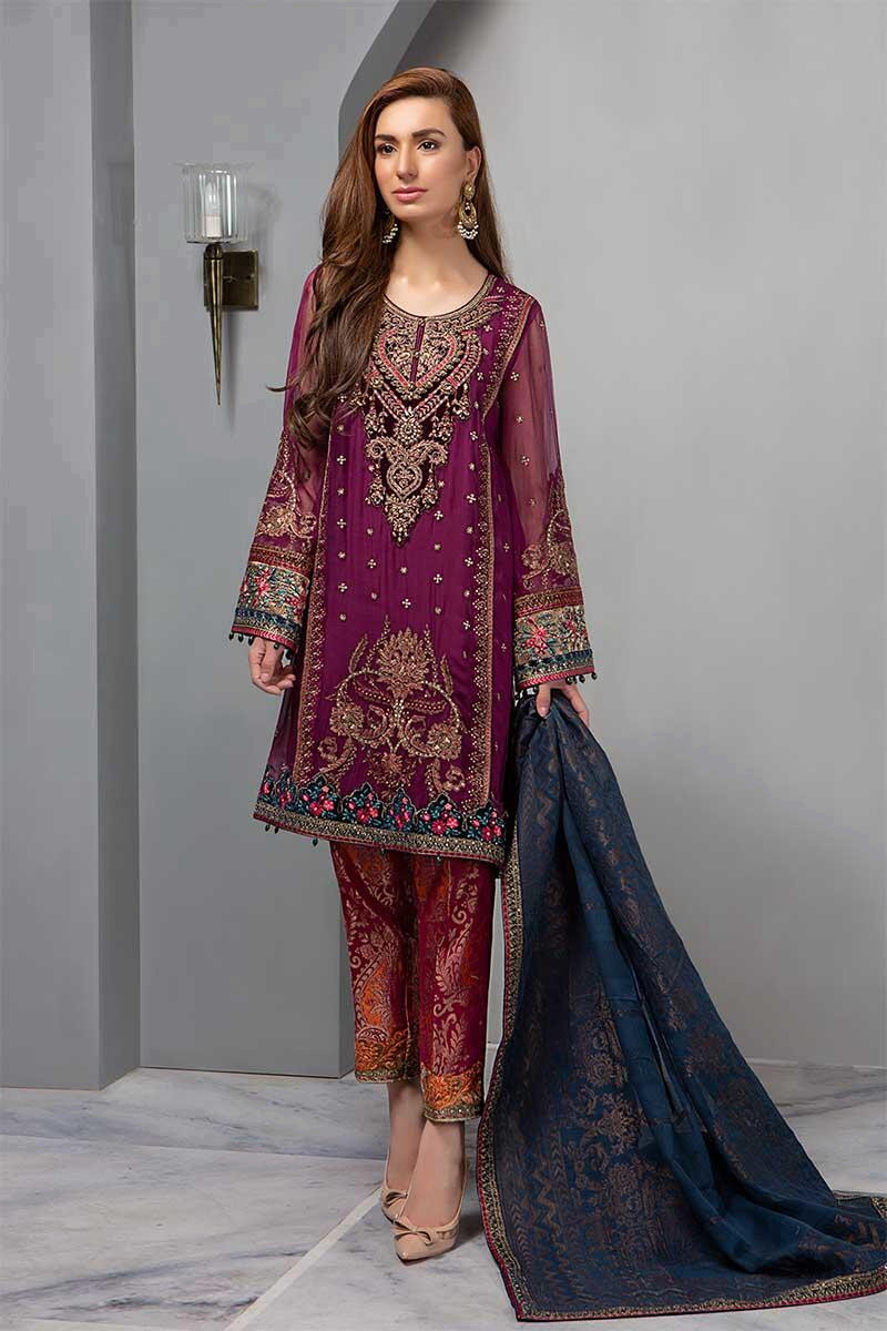 Suit Deep Magenta and Teal  BDS-1605