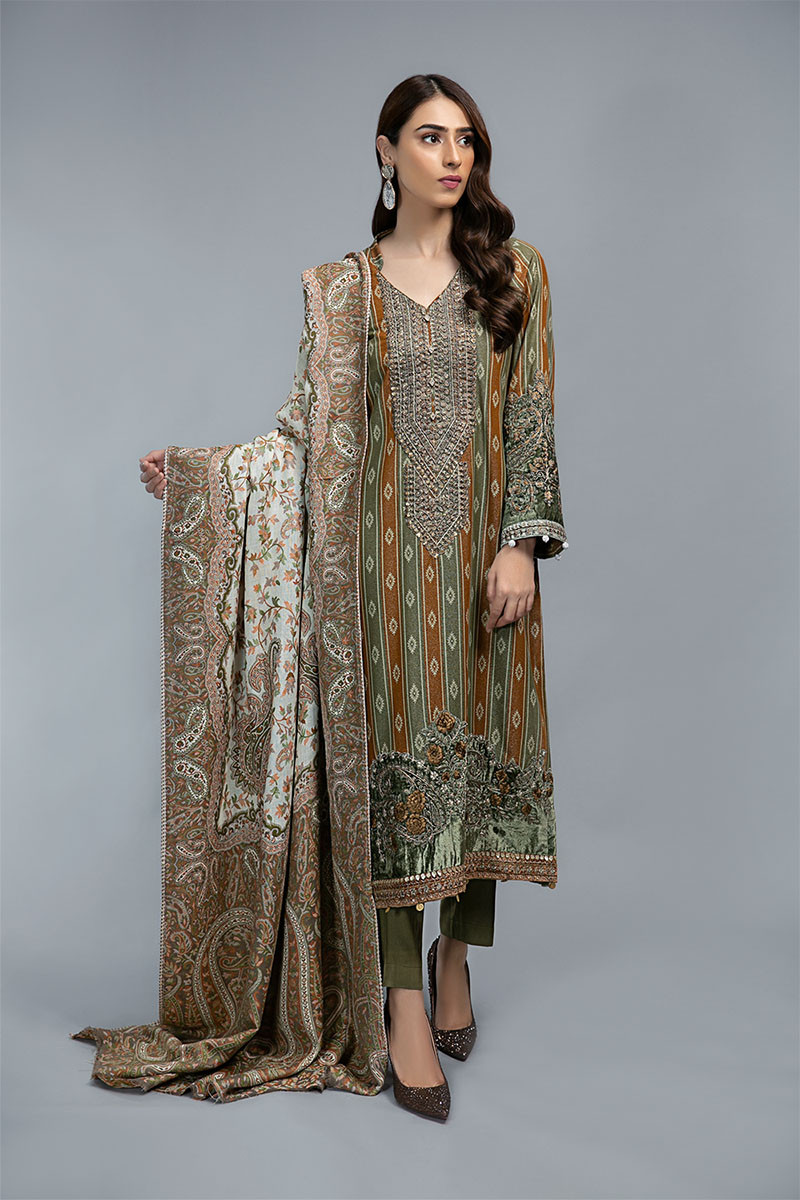 Suit Mustard and Olive Green DLS-709