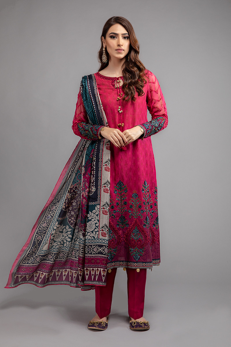Suit Fuchsia Pink DS-2007-A