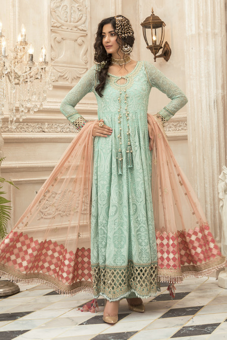 Unstitched MBROIDERED - Sea Green (BD-1908)