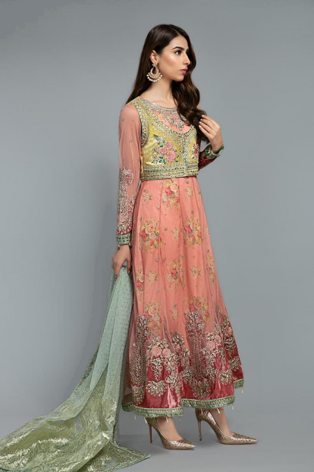 Suit Daffodil and Candy Pink BDS-1802