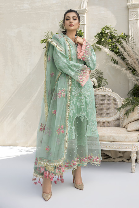 Unstitched Sateen CST-308-Sea Green