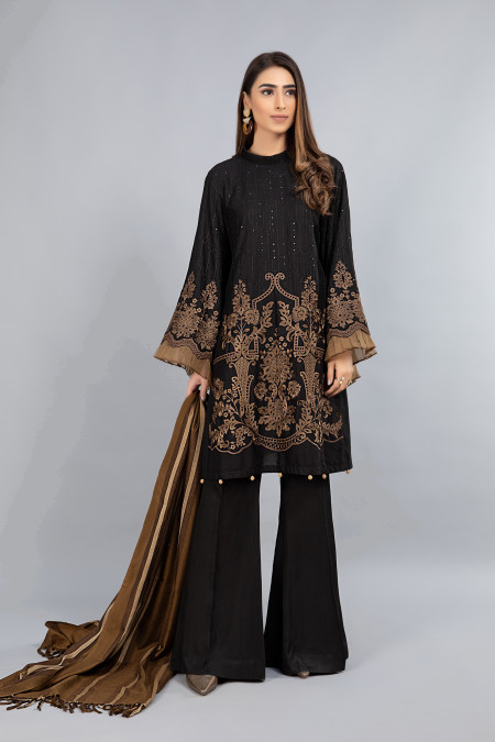 Suit Black and Brown DLS-809
