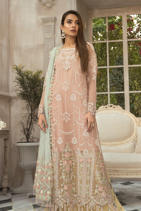 Unstitched MBROIDERED - Pink (BD-1907)